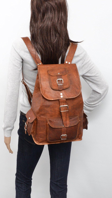 Кожаный рюкзак коричневый