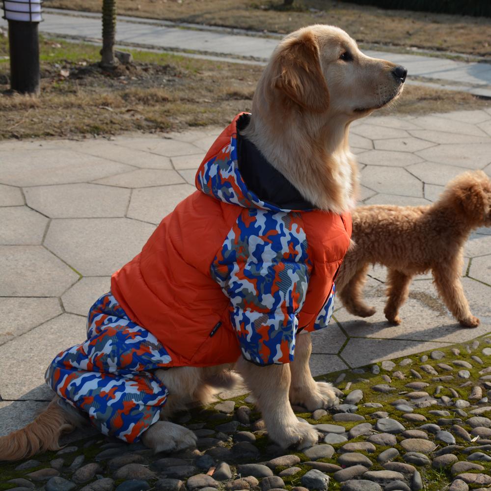 Зимний комбинезон для собак красный