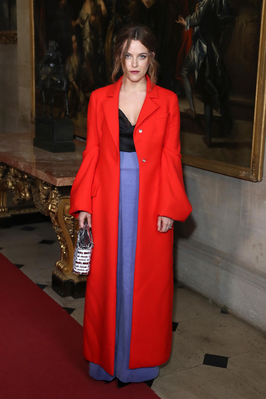 Красное пальто Dior 2017