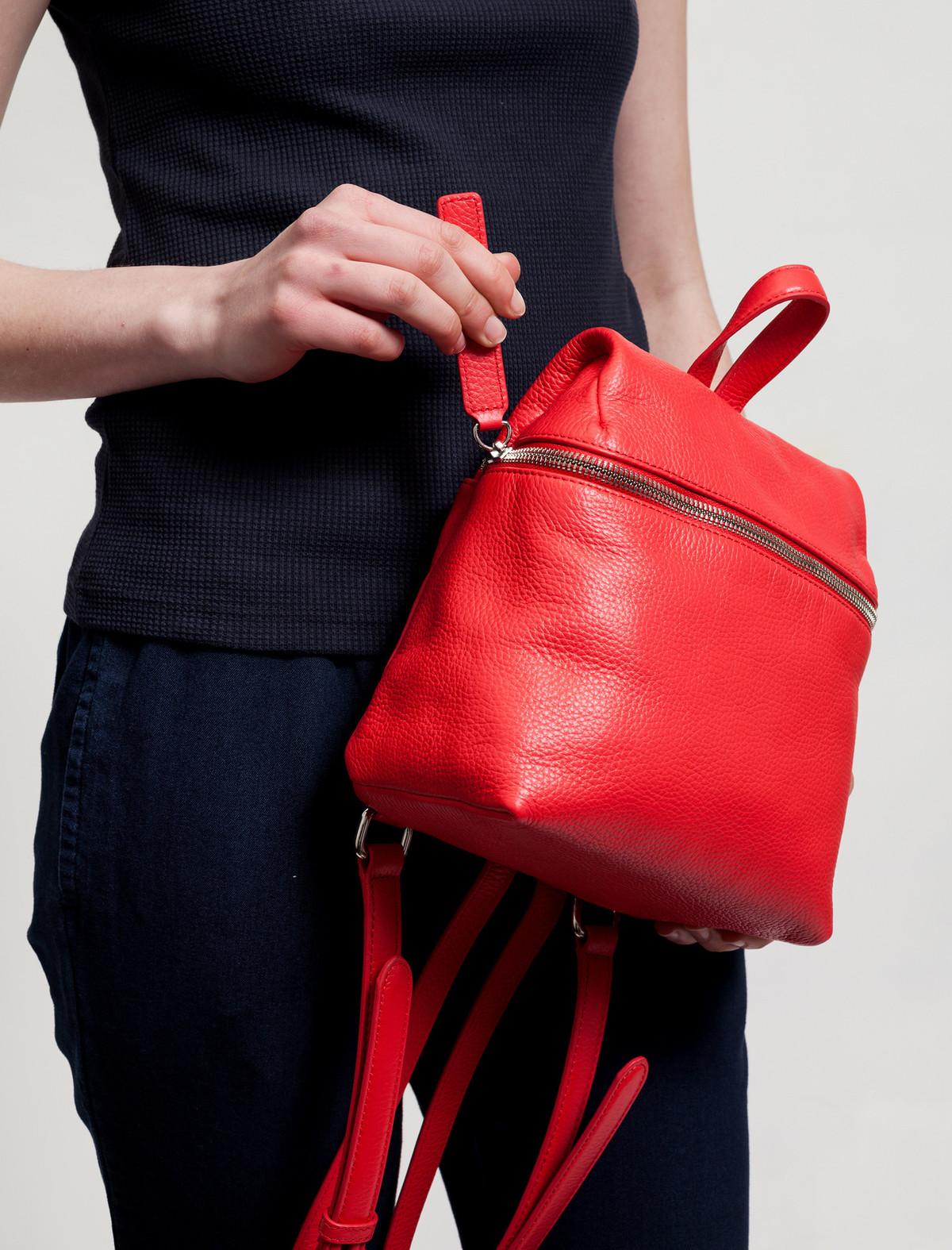 Маленький рюкзак красный