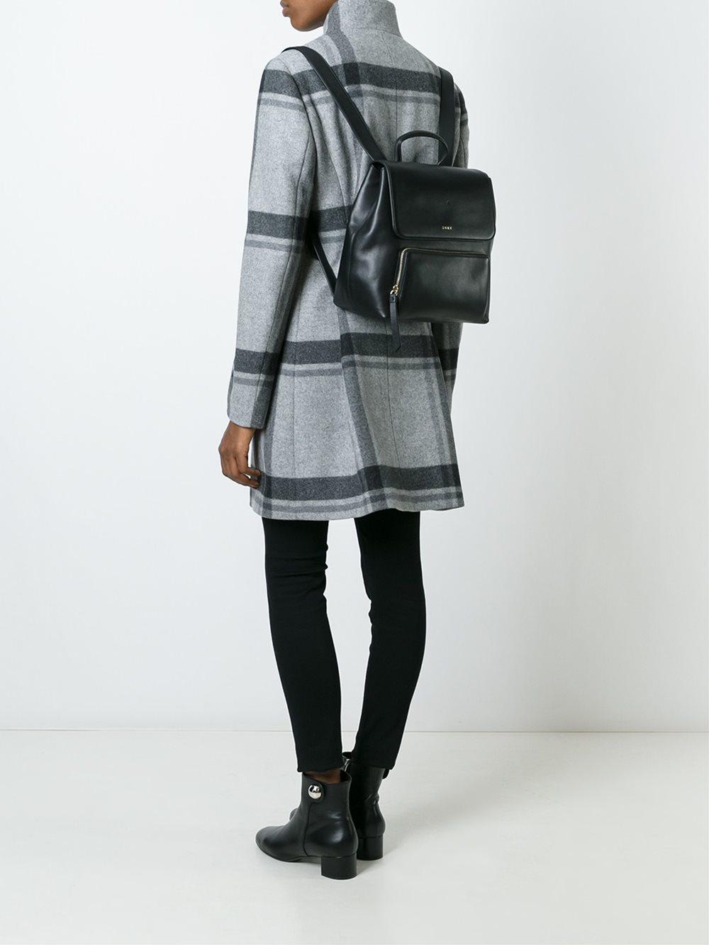 Черный квадратный рюкзак