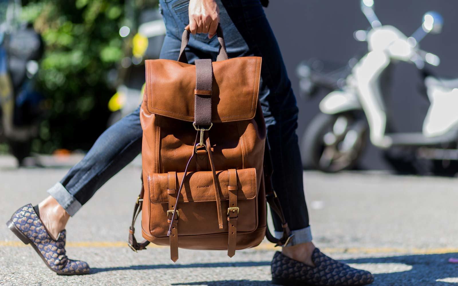 Городской рюкзак квадратный