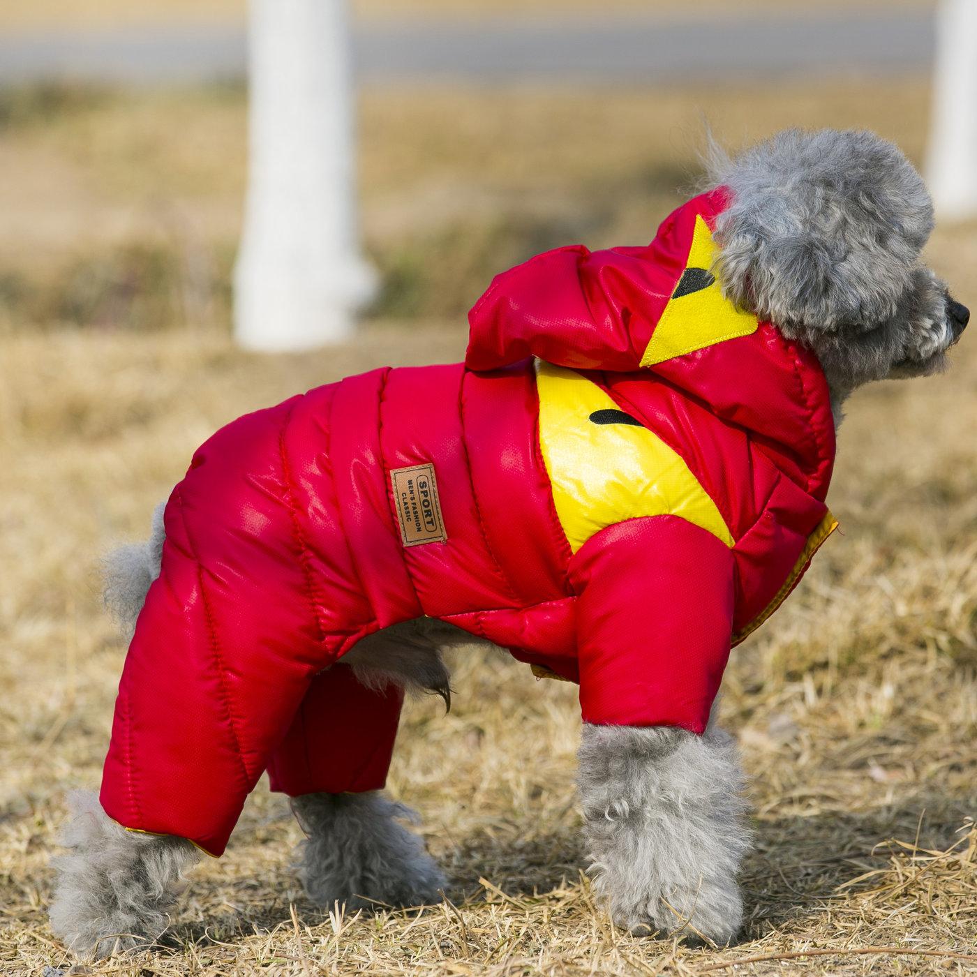 Зимний комбинезон для собак с закрытыми лапами