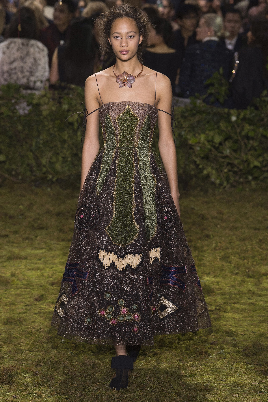 Платье с люрексом Dior 2017