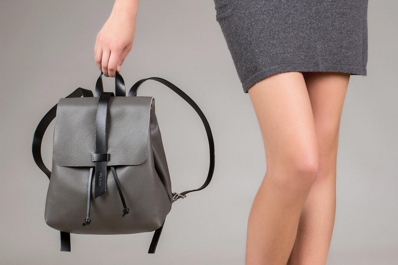 Серый рюкзак маленький