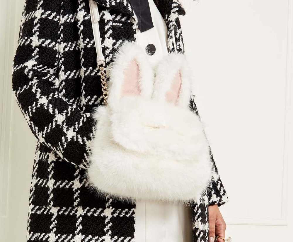 Маленький рюкзак с мехом
