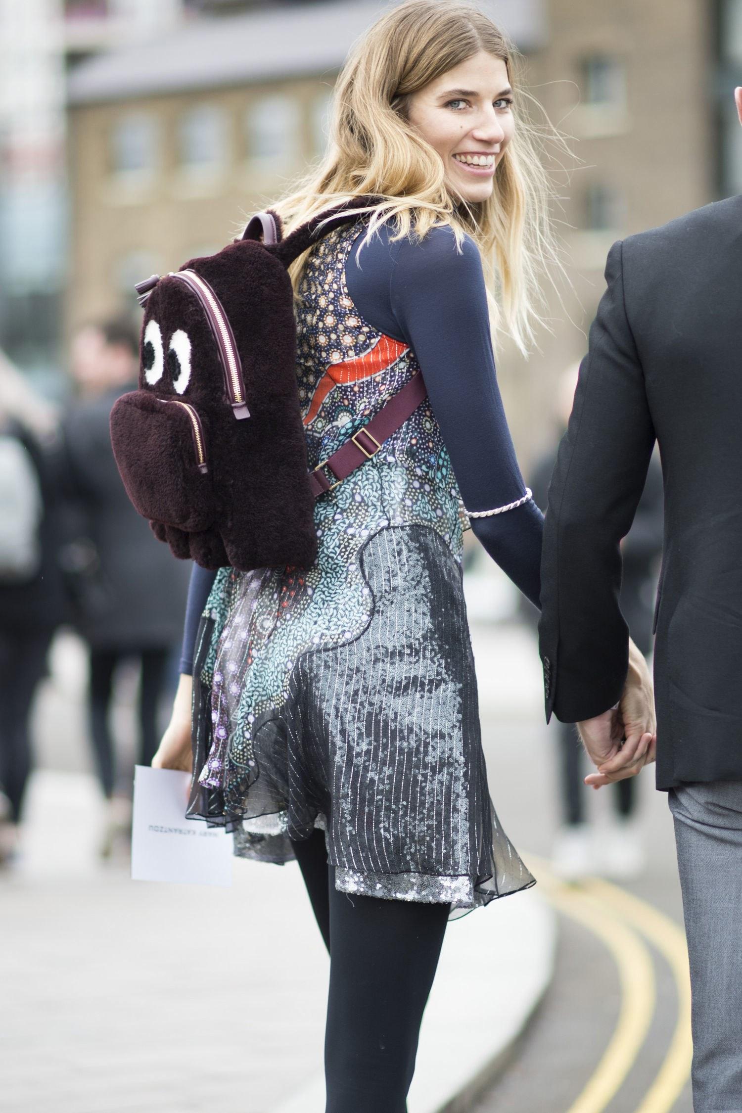 Городской рюкзак плюшевый