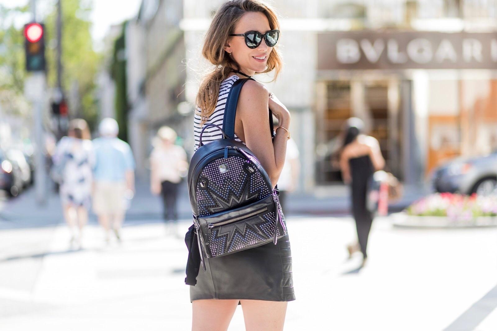 Городской рюкзак с металлическим декором