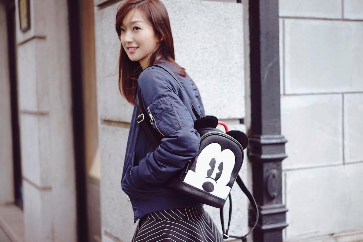 Маленький рюкзак с микки маусом
