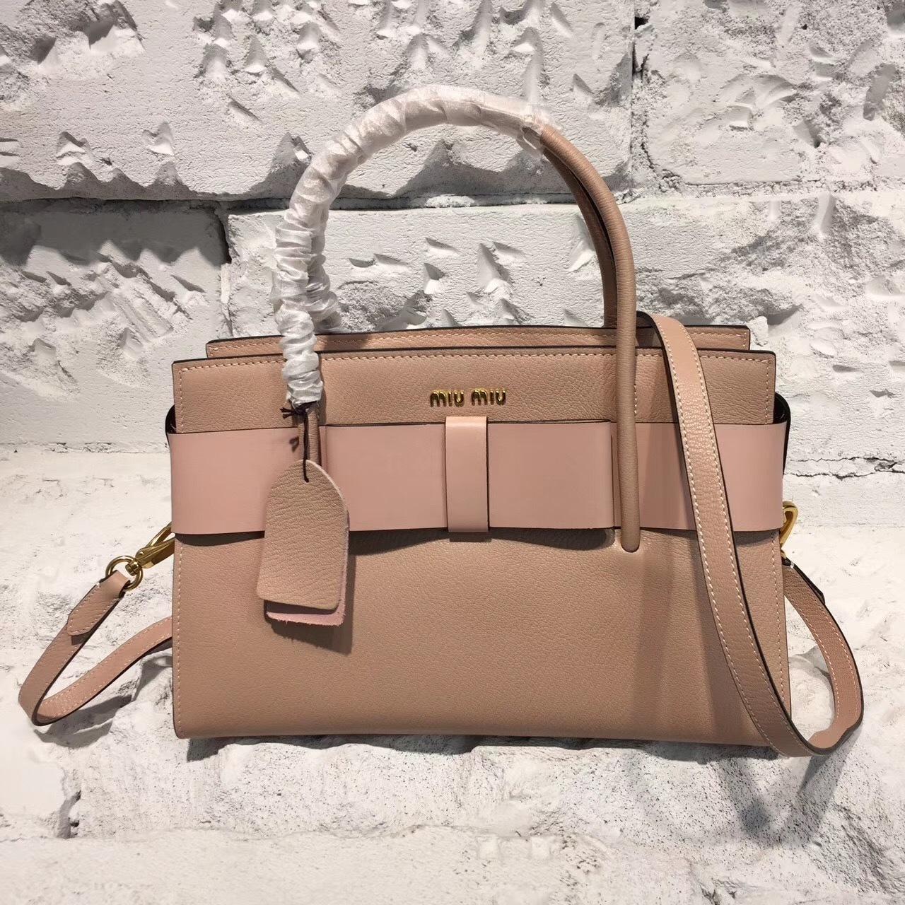 Бежевая сумка miu miu