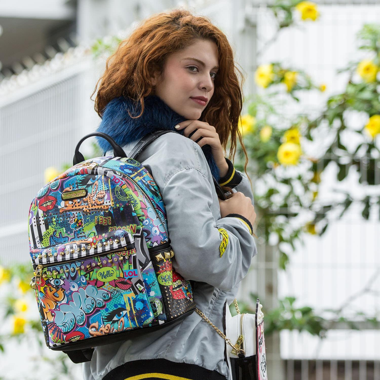 Городской рюкзак с надписями