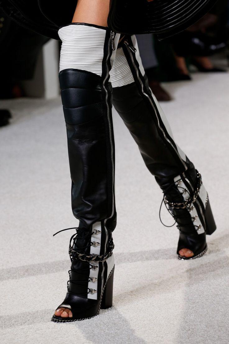 Ботфорты чулки с открытыми носками