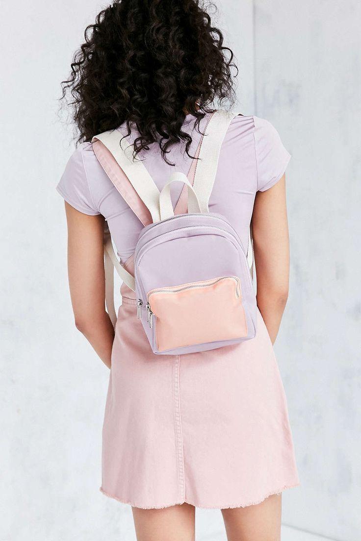 Маленький рюкзак пастельного оттенка