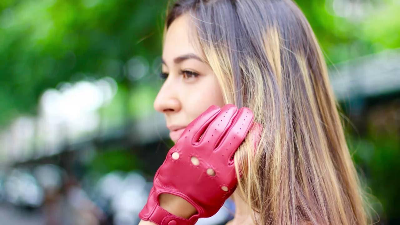 Кожаные перчатки с перфорацией