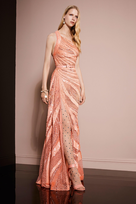 Платье персикового цвета на новый год 2018