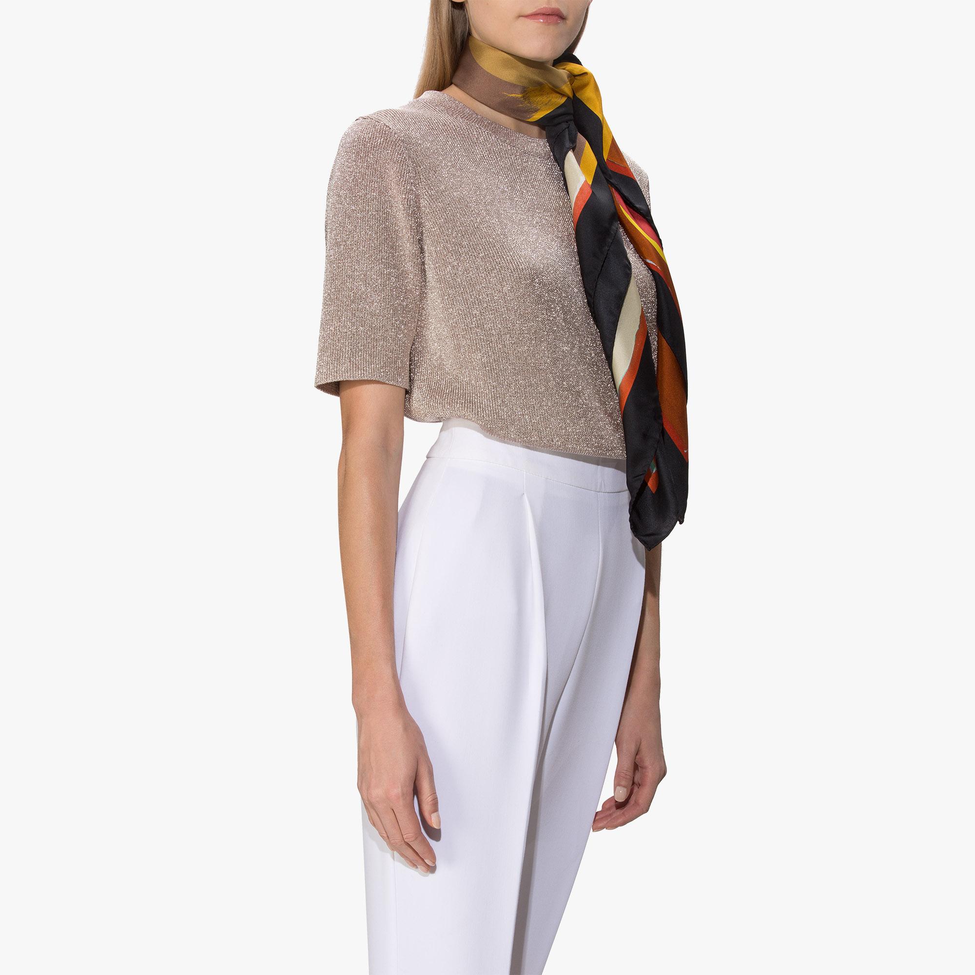 Шелковый шарф в полоску