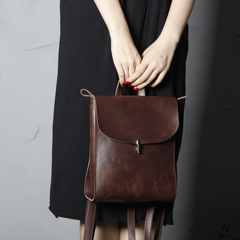 Кожаный рюкзак портфель