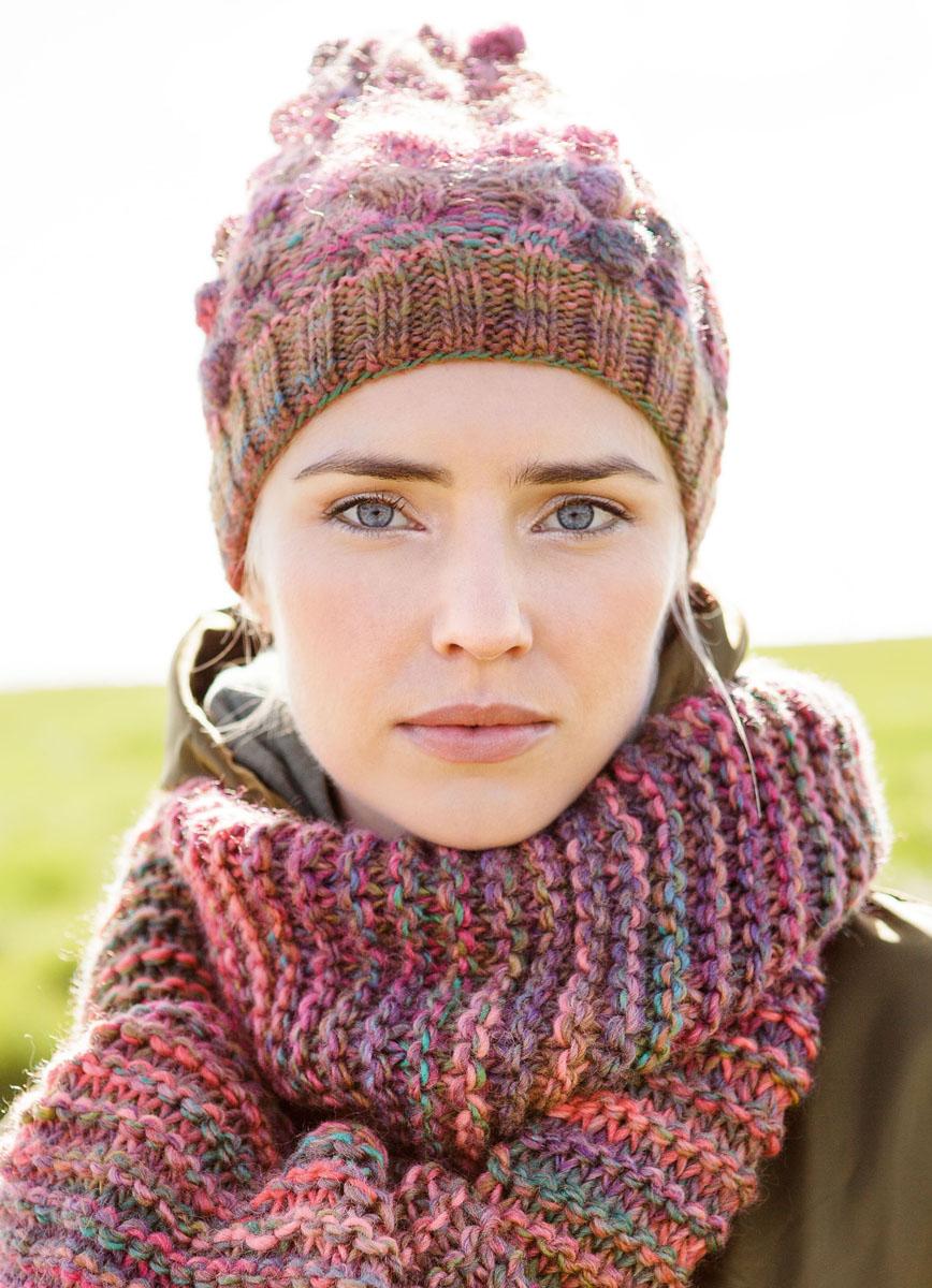 Вязаный шарф разноцветный
