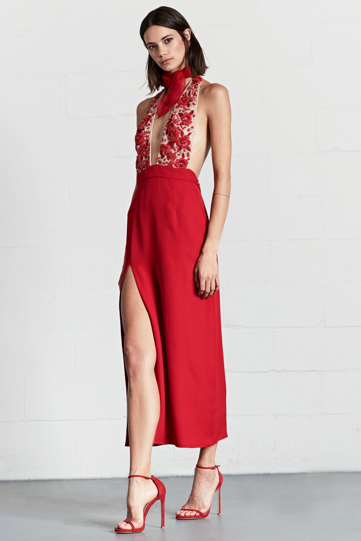 Платье с разрезом на новый год 2018