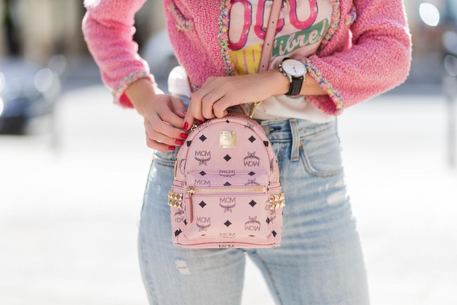 Маленький рюкзак с рисунком