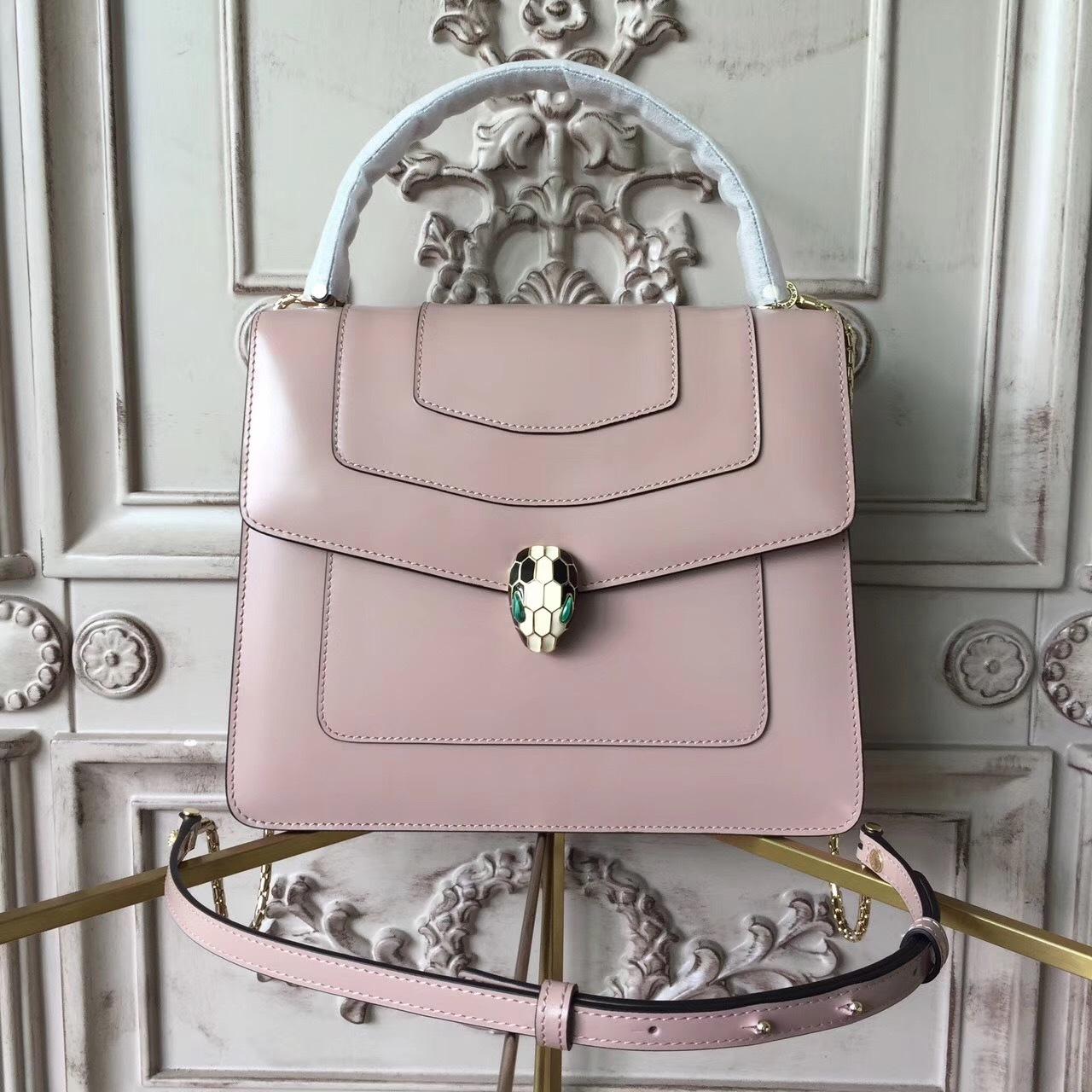 Бежево-розовая сумка