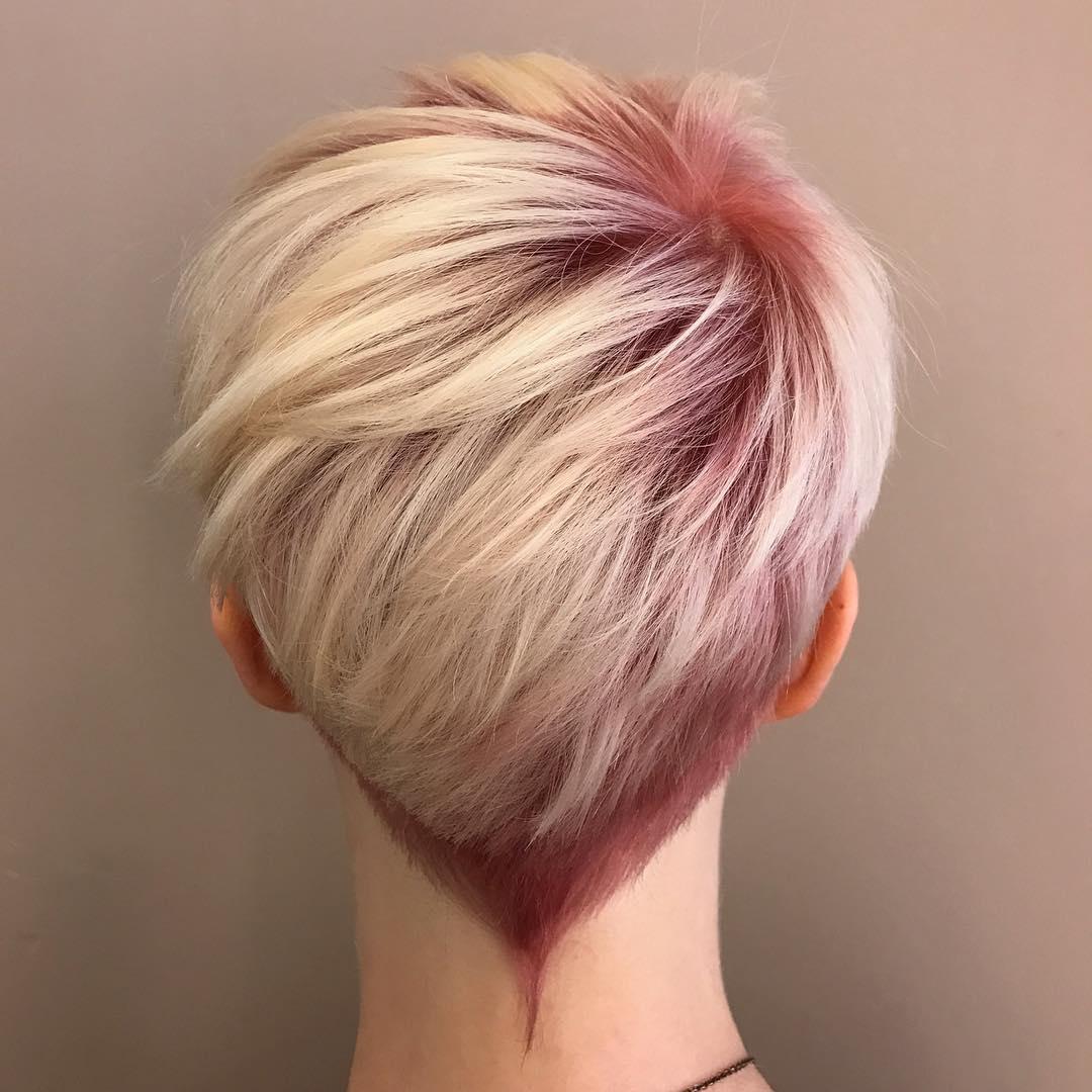 Розовое окрашивание волос 2018