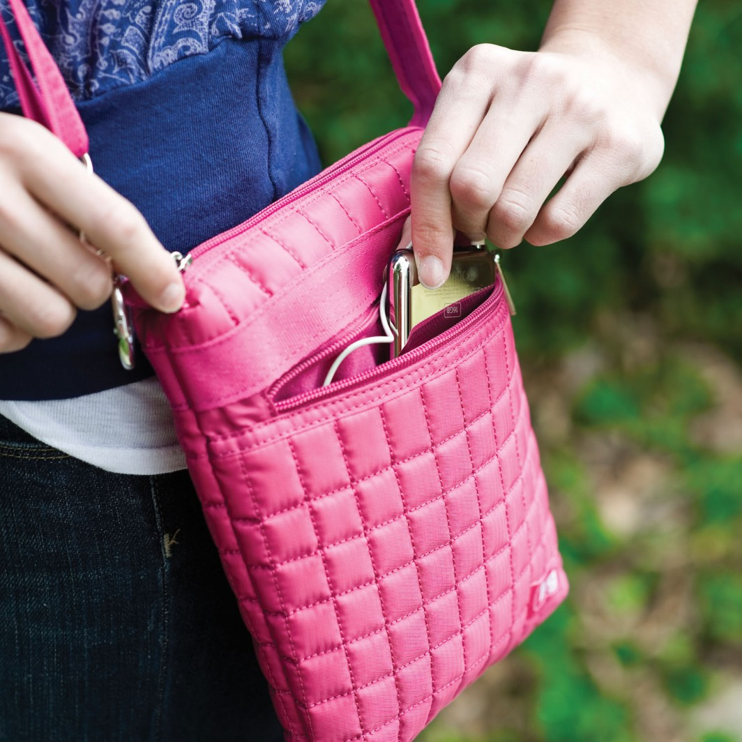 Сумка планшет розовая