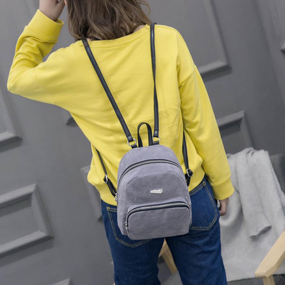 Маленький рюкзак серый