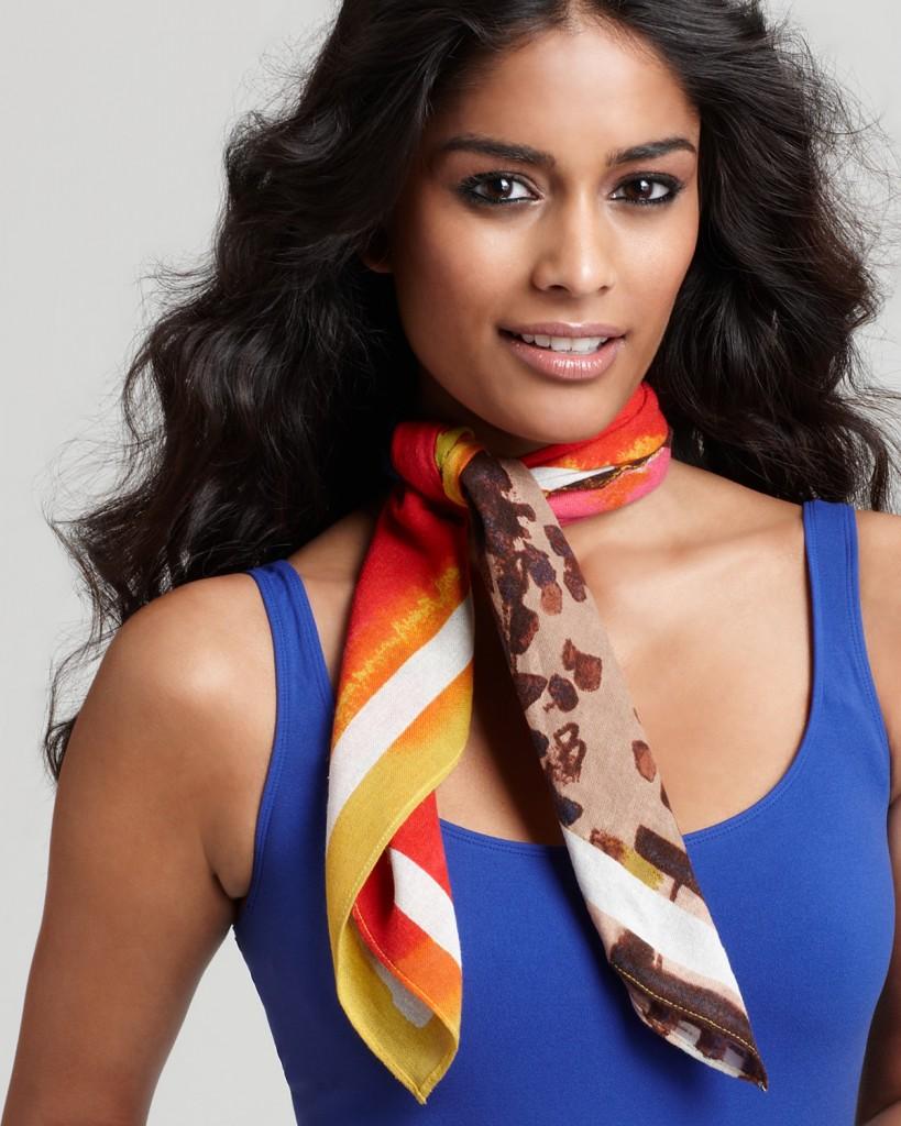 Шелковый шейный платок