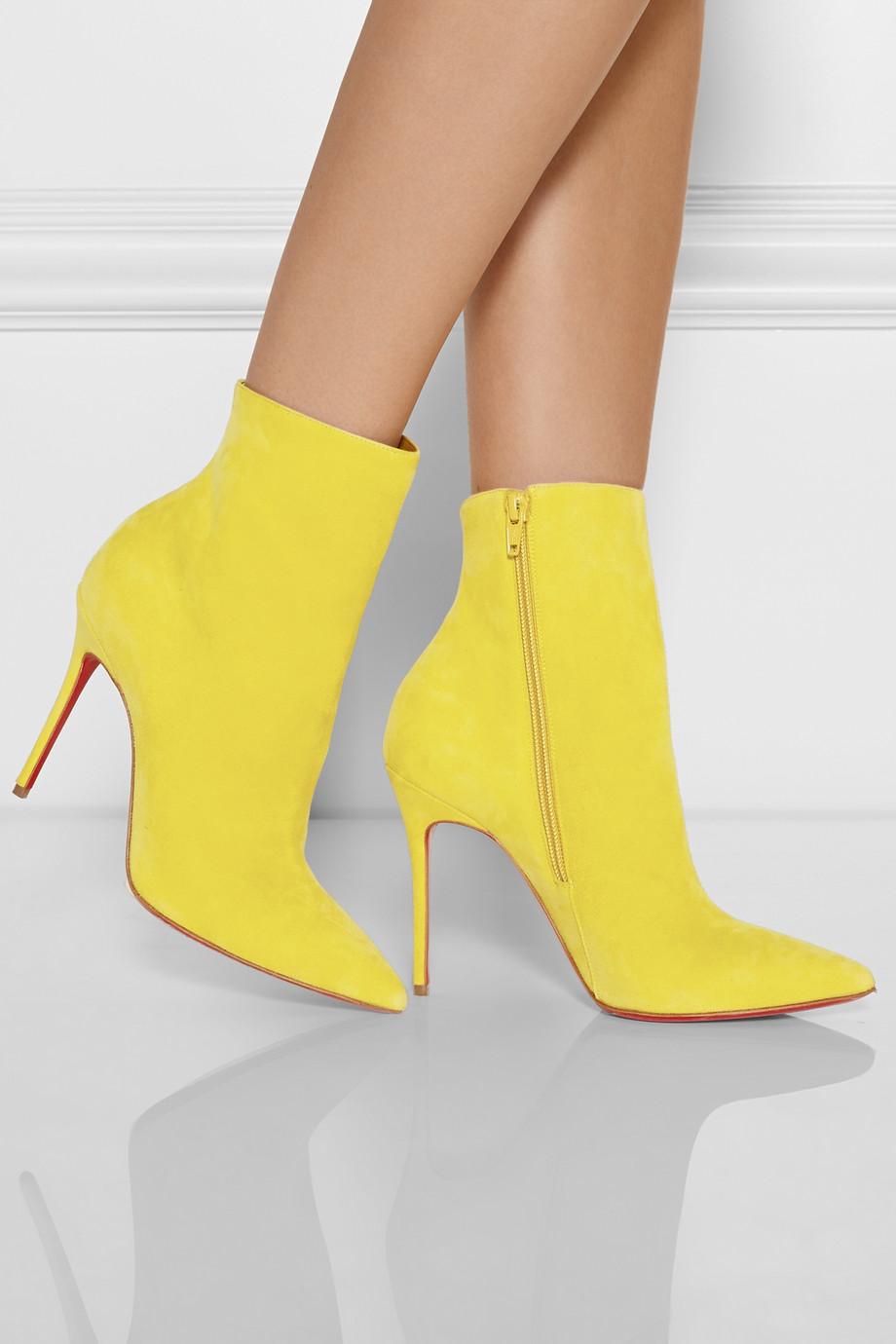 Желтые ботинки на шпильке
