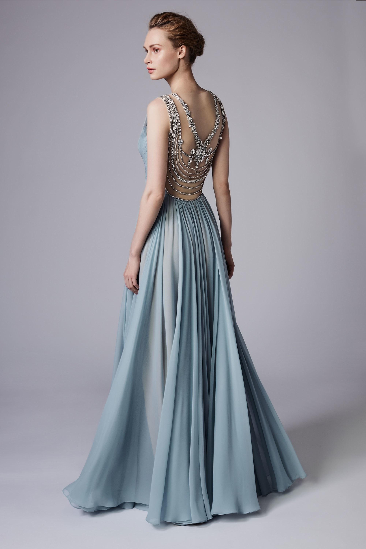 Платье с декором на спине на новый год 2018