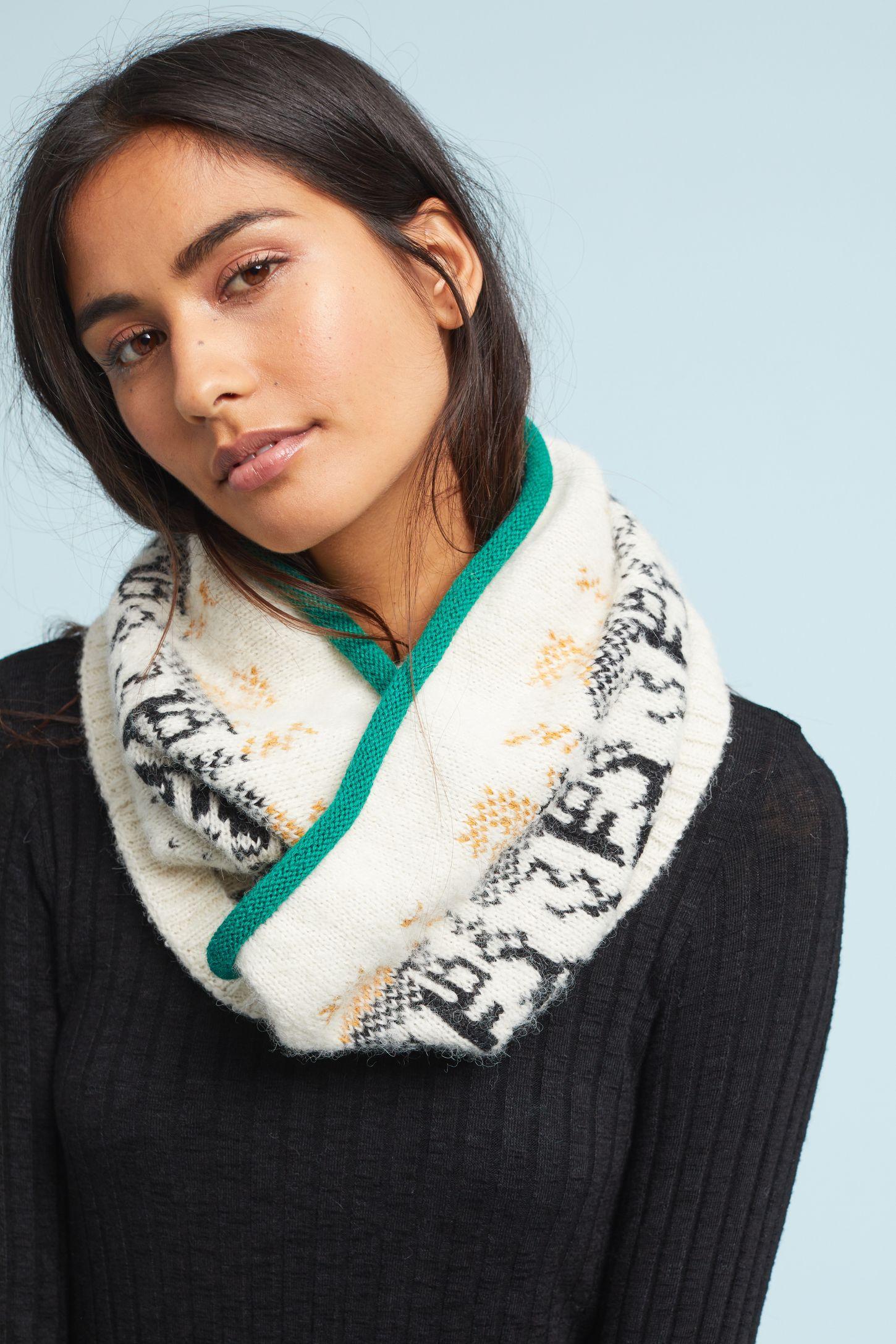 Вязаный шарф спортивный
