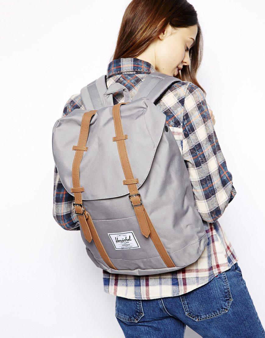 Серый рюкзак спортивный