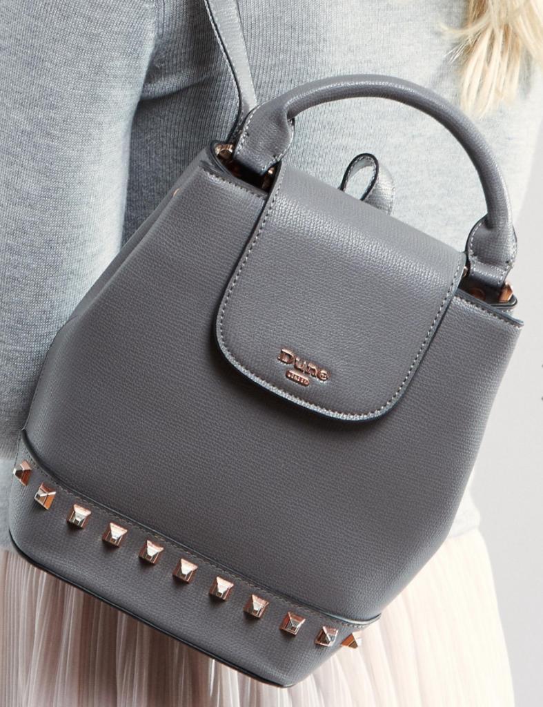 Серый рюкзак сумка