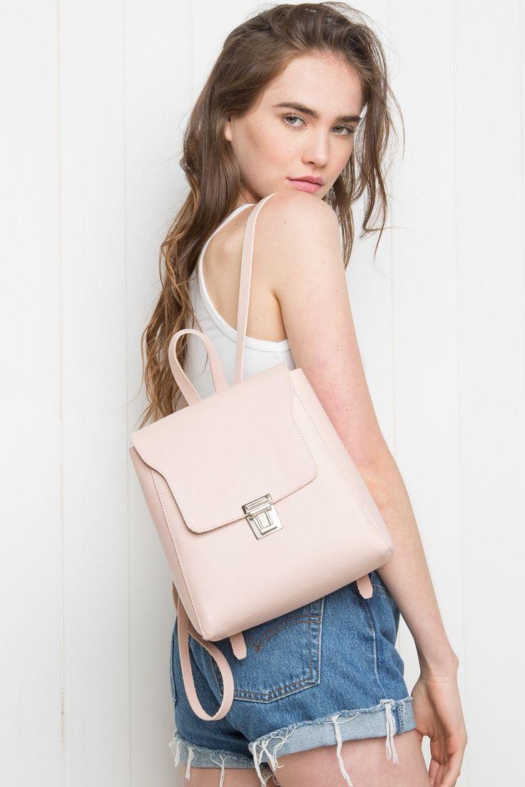 Маленький рюкзак светлый
