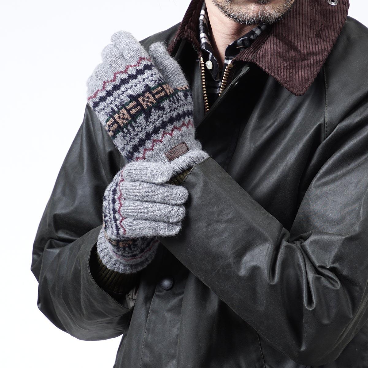 Мужские перчатки с узором