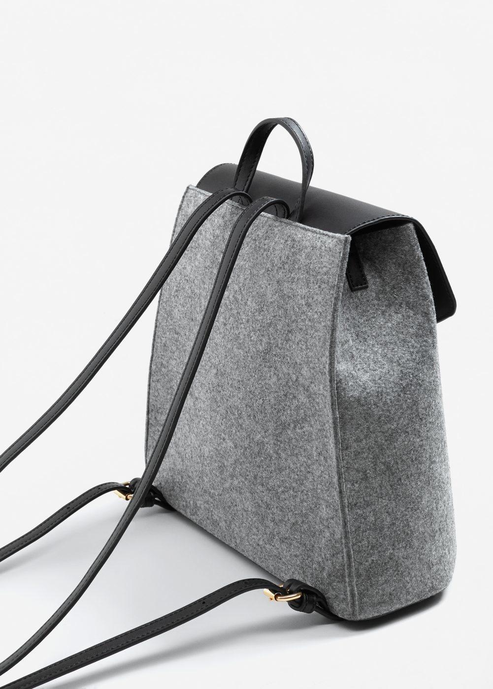 Серый рюкзак из войлока