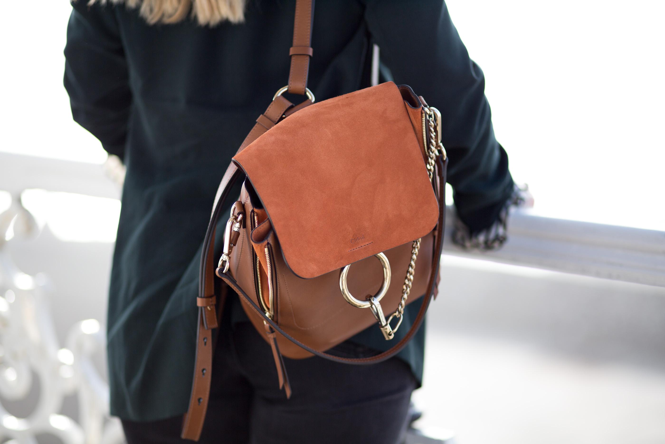 Городской рюкзак из замши