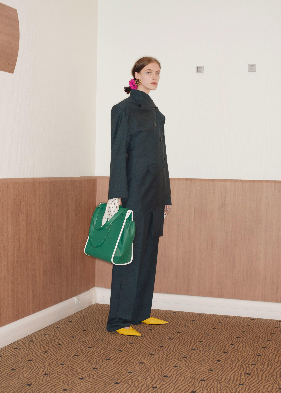 Деловая сумка женская зеленая