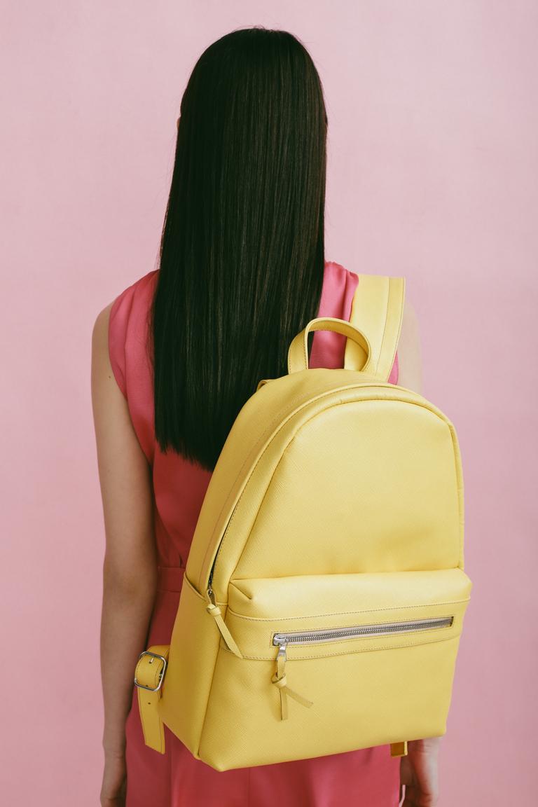 Городской рюкзак желтый