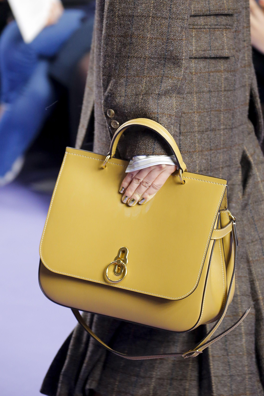 Кожаный рюкзак желтый