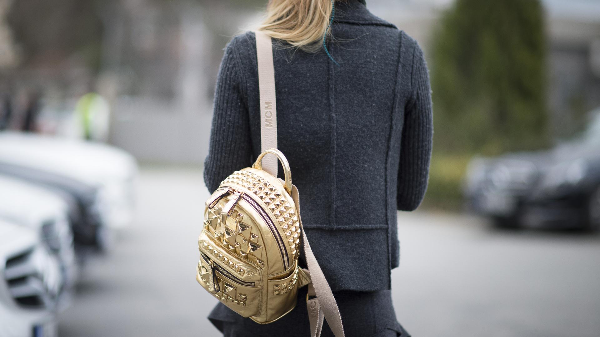 Городской рюкзак золотой