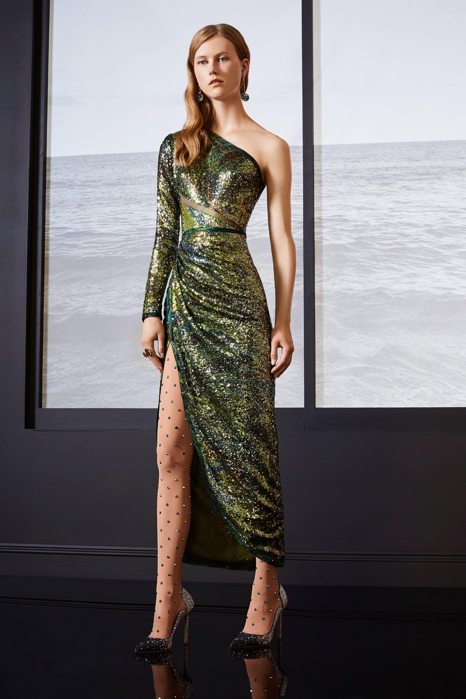 Коктейльное платье 2018 асимметричное