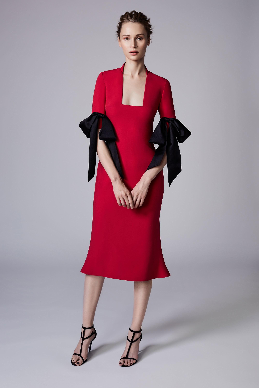 Коктейльное платье 2018 с бантиками