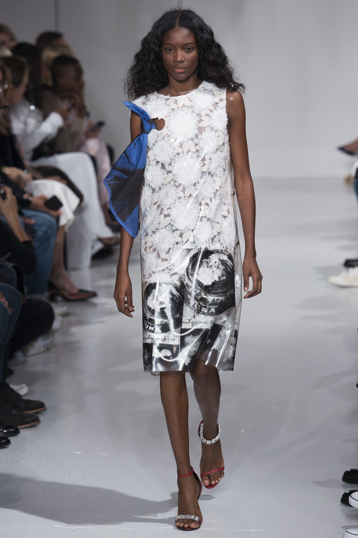 Calvin Klein 2018 белое платье