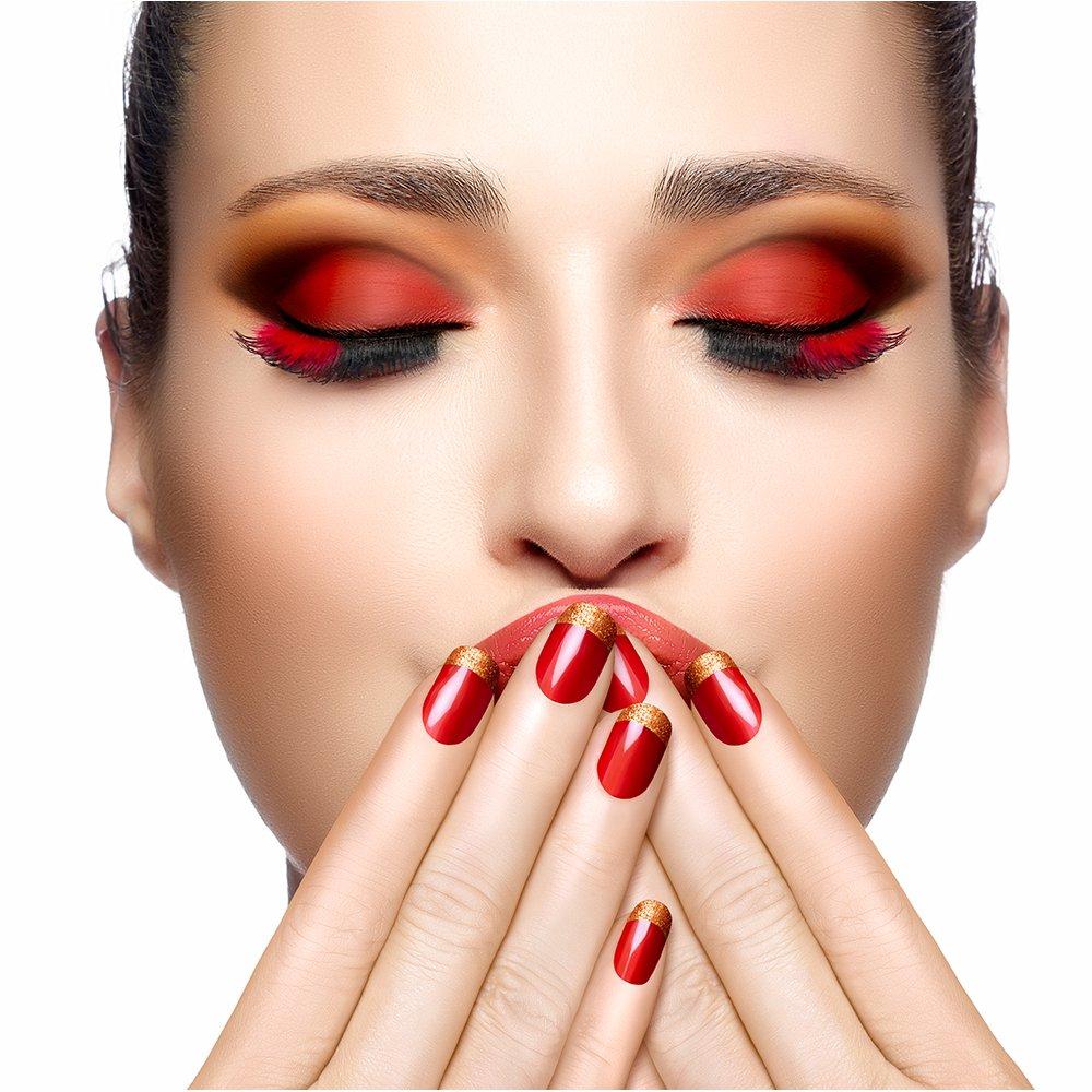 Красно-черный макияж