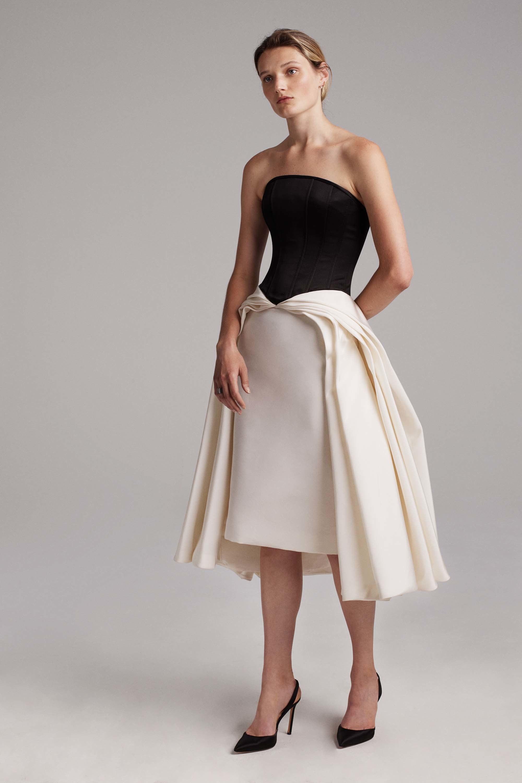 Коктейльное платье 2018 черно-белое
