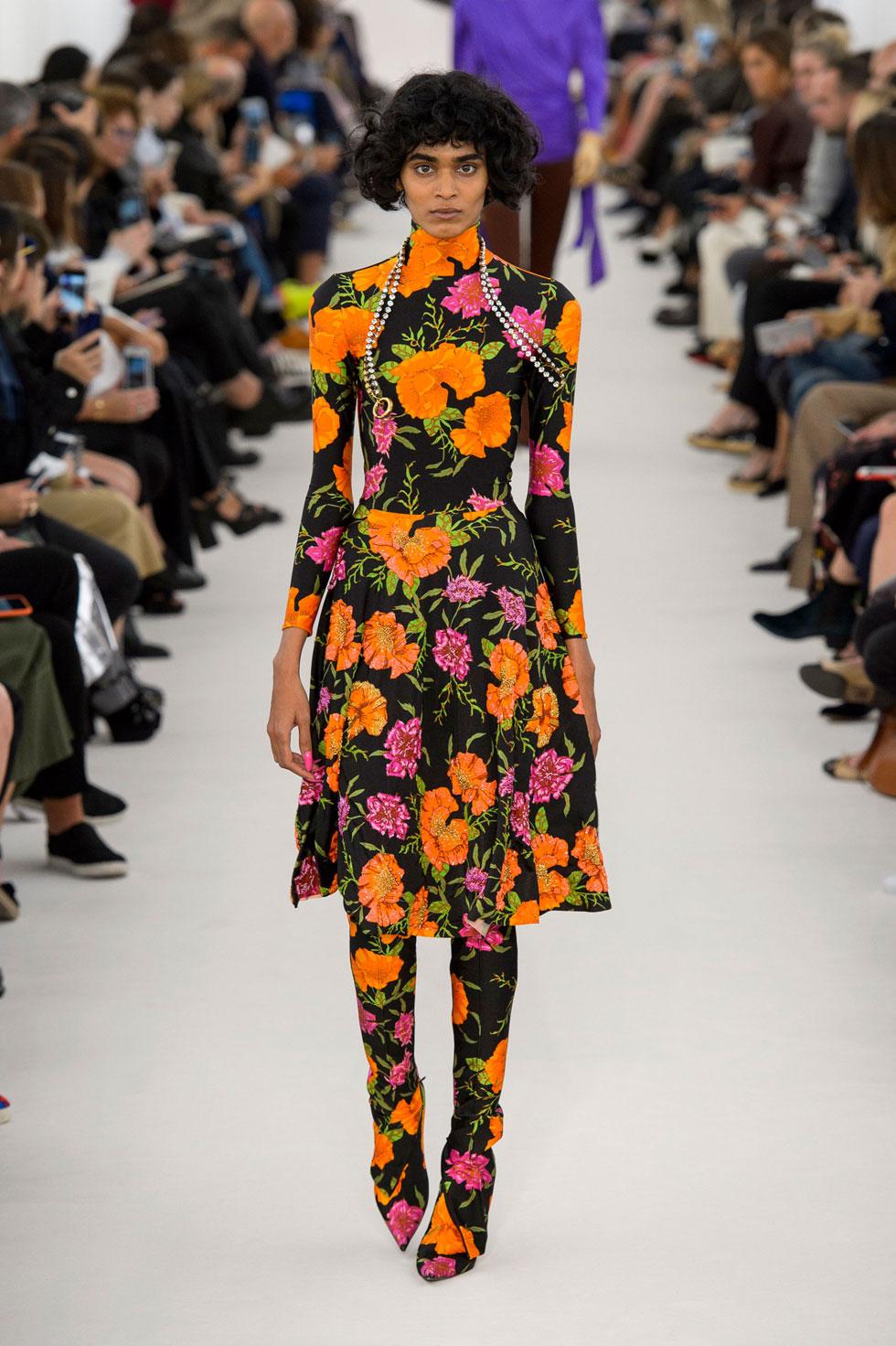 Цветочное платье balenciaga