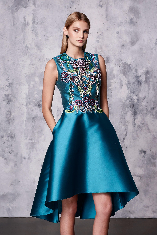 Коктейльное платье 2018 с декором
