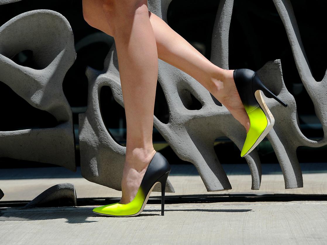 Двухцветные туфли джимми чу